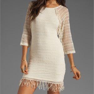 Nightcap Fringe Lace Raglan Dress